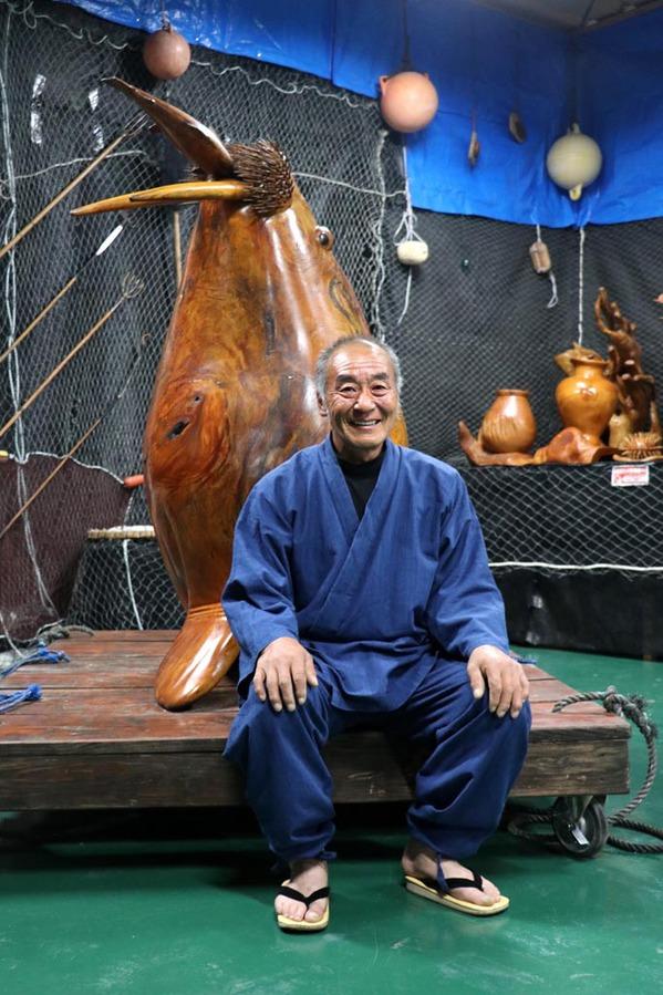 野田村 木彫りの魚美術館「魚の番屋」深渡栄一さん