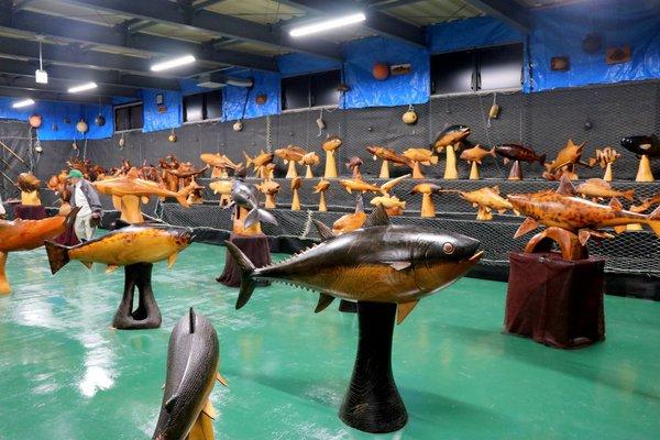 野田村 木彫りの魚美術館「魚の番屋」